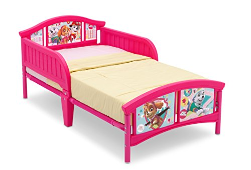 Delta Children Plastic Toddler Bed, Nick Jr. PAW Patrol/Skye and (Garden Blossom Crib Set)