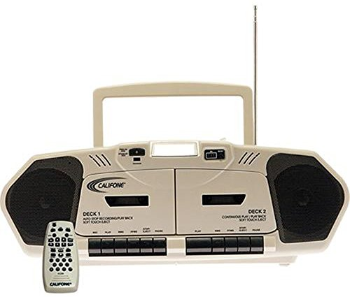 Califone 2395AV-02 Music Maker Plus Multimedia Player, 6 Watts RMS powerful enough for up to 75 people, Full digital controls with separate bass/treble controls, CD digital counter and 2X cassette counter ()