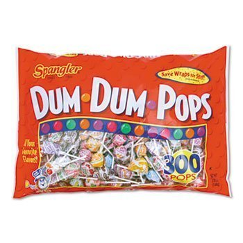 3 Pack Dum-Dum-Pops, Assorted Flavors, Individually Wrapped, 300/Pack by SPANGLER (Catalog Category: Office Maintenance, Janitorial & Lunchroom / Food & Beverage) by Spangler -