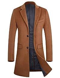 APTRO Men's Wool Trench Coat Long Gentleman Business Top Coat