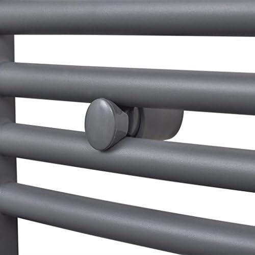 yorten Radiador Ttoallero de Ba/ño Calentador de Toallas y Calentador de Espacio Curvo Gris 500 x 1732 mm