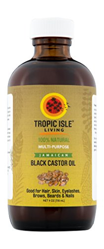 Tropic Isle Living Jamaican Black Castor Oil Glass Bottle