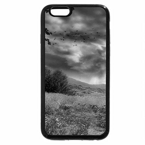 iPhone 6S Case, iPhone 6 Case (Black & White) - Three Welsh Hills