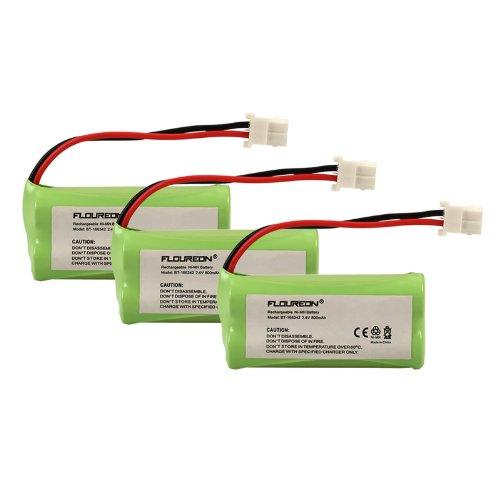 Floureon 3 Packs Cordless Home Phone Battery Pack for AT&T VTech BT166342 BT266342 BT183342 BT283342 2.4V 800mAh