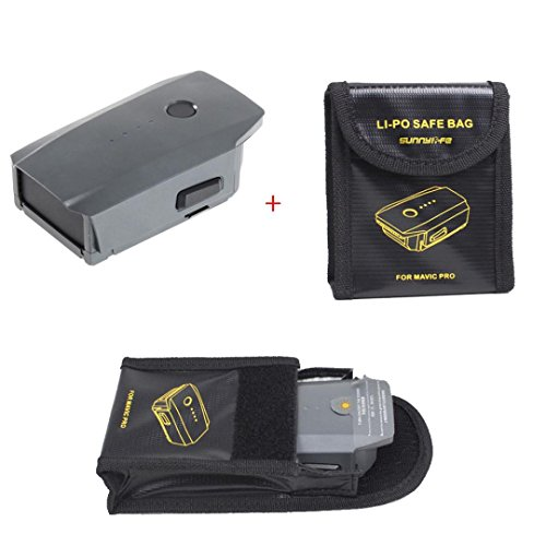 3830mAh Intelligent Flight Battery + 1 PCS Lipo Battery Safe Protectofor For DJI Mavic Pro, Leewa by Leewa