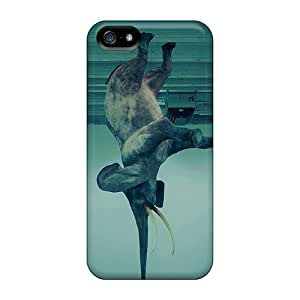 CtlNTWz7034hrrJb Anti-scratch Case Cover Cynthaskey Protective Elephant Trick Case For Iphone 5/5s