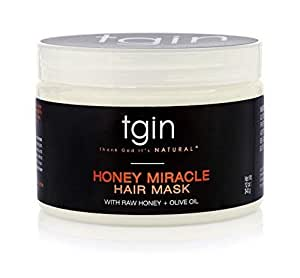 tgin Honey Miracle Hair Mask Deep Conditioner With Raw Honey & Olive Oil  For Natural Hair -