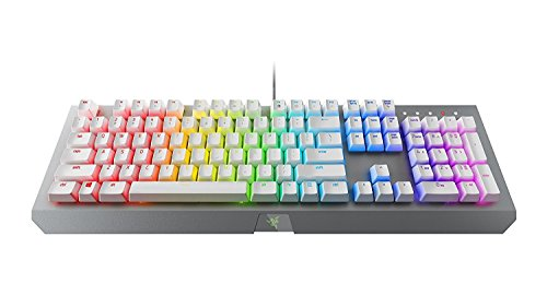 Razer BlackWidow X Chroma Mechanical Gaming Keyboard: Green Key Switches - Tactile & Clicky - Chroma RGB Lighting - Military-Grade Metal Construction - Mercury White