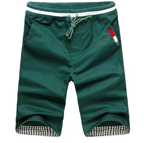 Uomo Casual Estivi Abbigliamento Pantaloncini Lunghi Festivo Lannister Vivaci Dai Pantaloni Sportivi Spiaggia Darkgreen Da E Traspiranti Colori 1UTxq
