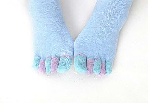 kinlene Algodón Yoga Gimnasio antideslizante Masaje Toe Calcetines Full Grip Calcetines Tacón: Amazon.es: Ropa y accesorios