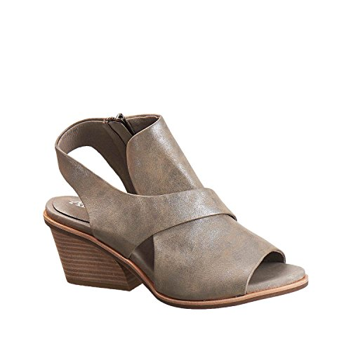 Antelope Women's 520 Pewter Metallic Leather Crossover Wrap Sandals 39 by Antelope