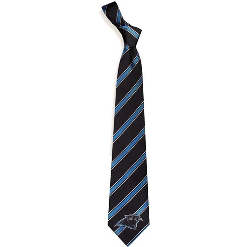 Eagles Wings Carolina Panthers Woven Polyester Tie