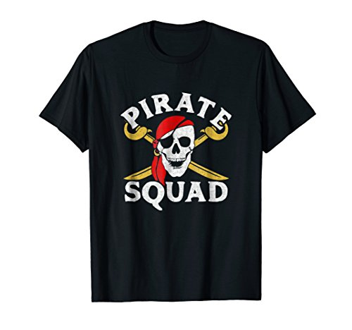 Pirate Squad T-shirt Jolly Roger Skull Crossbones Birthday]()