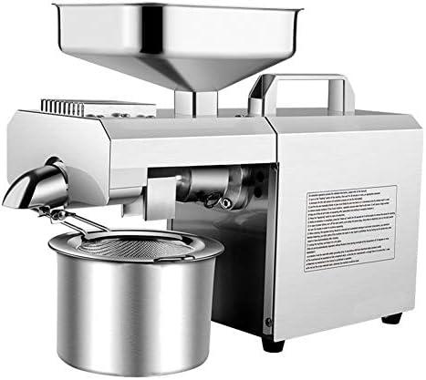 Extractor de aceite, máquina de aceite termostático de acero inoxidable con motor de grado industrial, para prensa de aceite comercial en el hogar: Amazon.es: Hogar