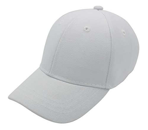 Top Level Baby Infant Baseball Cap Hat - 100% Durable Sturdy Polyester Hat, WHT