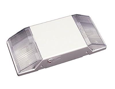NICOR Lighting 18102 Low-Profile Emergency Back-Up Light Fixture with Dual Light Heads,