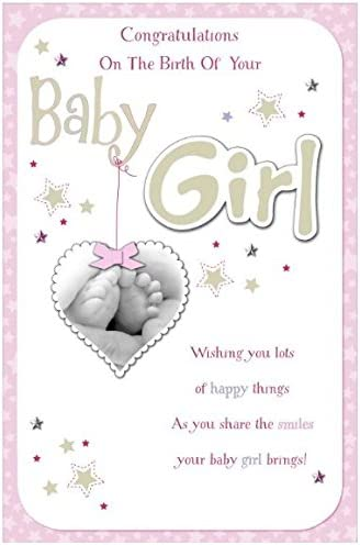 Congratulations On The Birth Of Your Baby Girl Box Card Amazon Co Uk Kitchen Home
