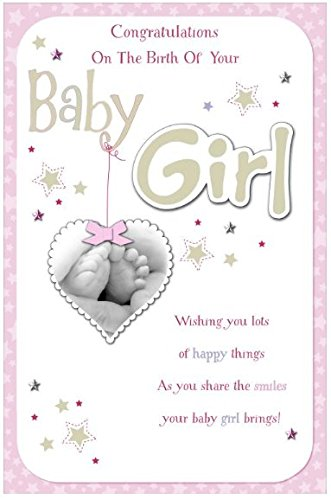 congratulations on the birth of your baby girl box card