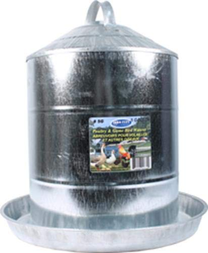 Farm Tuff Double Wall Cone-Top Galvanized Poultry Fountains, 5-Gallon by Farm Tuff