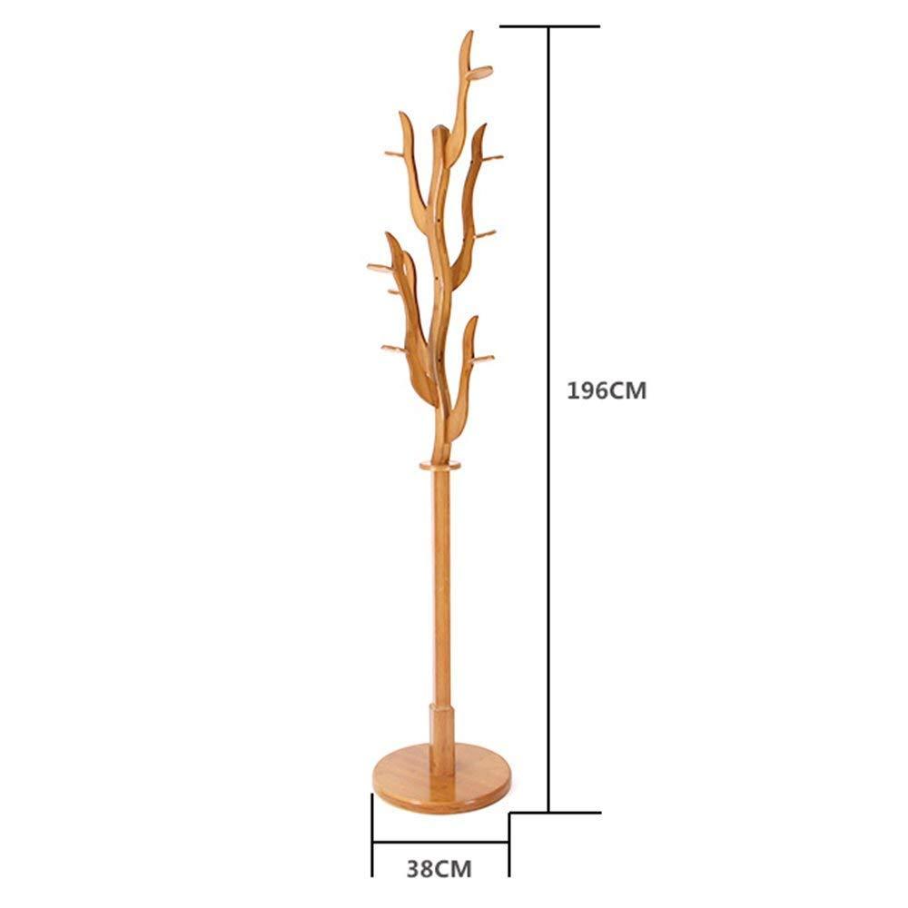 XQY Percheros Perchero de pie Perchero de bambú con Forma de ...