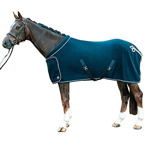 Deep bluee UK 6'9   EU 155   US 81 Deep bluee UK 6'9   EU 155   US 81 Hkm Horse Riding Lightweight Breathable Riding Jumping Winter Exercise Collar Fleece Sheet Colours.