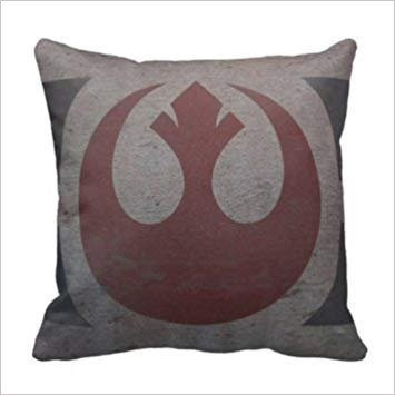 Star Wars Rebel Logo Custom Pillowcase Cushion Pillow Case Home Decorative Pillow Cover Standard Size 18X18(Twin Sides)