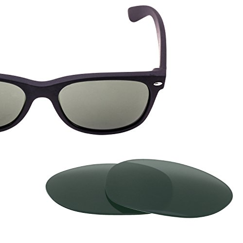 LenzFlip Polarized Replacement Lenses for Ray Ban RB 2132 New Wayfarer (Size 55mm) Sunglasses - G15 Green Polarized Lenses RB2132 (Ray Lenses Ban)