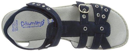 Däumling Maxi Mädchen T-Spangen Sandalen Blau (Turino tiefsee46)