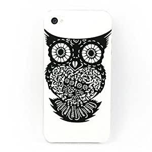 Black Owl Back Case for iPhone 4/4S
