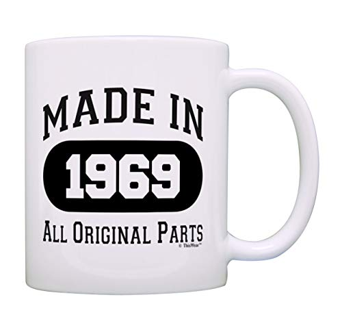 50th Birthday Gift Made 1969 50th Birthday Party Decorations Gift Coffee Mug Tea Cup White