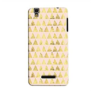 Cover It Up - Gold Pink Triangle Tile YU Yureka Hard Case