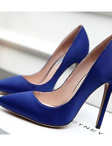 GGX/ Damenschuhe-High Heels-Hochzeit / Büro / Kleid / Lässig / Party & Festivität-Lackleder / Mikrofaser-Stöckelabsatz-Absätze-Schwarz / Blau blue-us1.5 / eu31 / uk0.5 / cn30
