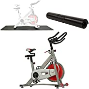 Sunny Health & Fitness Indoor Cycling Bike with 40 LB Flywheel and Dual Felt / Magnetic Resistance - Pro /