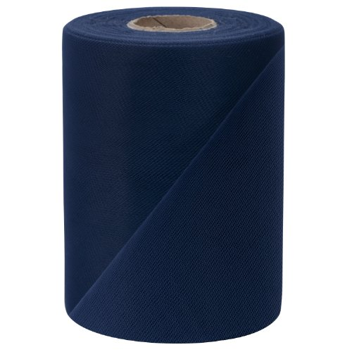 Falk Fabrics Tulle Spool, 6-Inch by 100-Yard, Navy