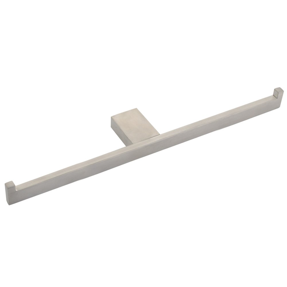 Double Bath Towel Holder, Angle Simple Metal Bathroom Accessories Hand Towel Holder Bathrobe Hanger Double Towel Bar for Lavatory Laundry Room Brushed Nickel Wall Mount