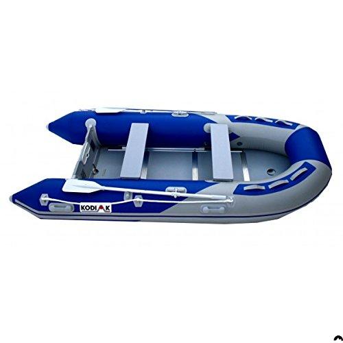 Kodiak Sportsman 12ft Inflatable Boat Aluminum Floor - Oars, Pump, Seats, Bag