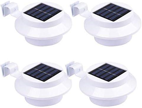 Solarleuchte Garten Blau,3 LED Solarlampe,Gartenlampe Solar Licht Wandleuchte Solar für Wände, Auffahrt Innenhof,Zäune,Hof,Flur,Veranda-4Stück
