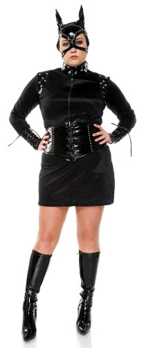 Forplay Women's Fierce Feline,Black,1X/2X