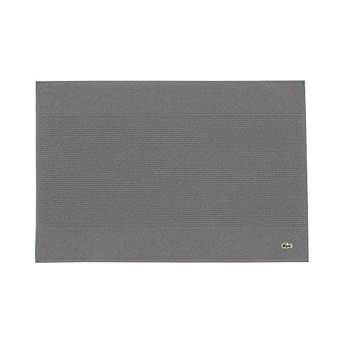 "Lacoste Legend Towel, 100% Supima Cotton Loops, 650 GSM, 21""x31"" Tubmat, Meteorite"