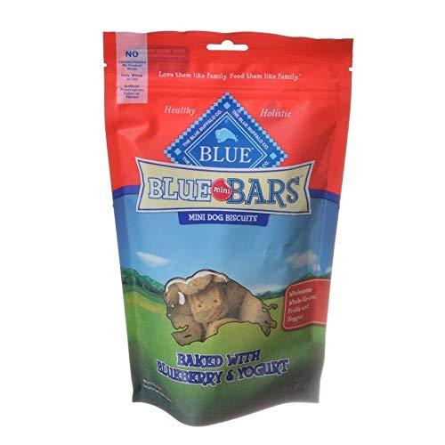Blue Buffalo Blue Mini Bars Dog Biscuits - Baked With Blueberry & Yogurt - Bundle Of 3 ()