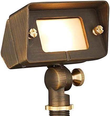 VOLT Gentle Splash Cast Brass 12V Flood Light & Wall Wash (Bronze) with LED Bulb