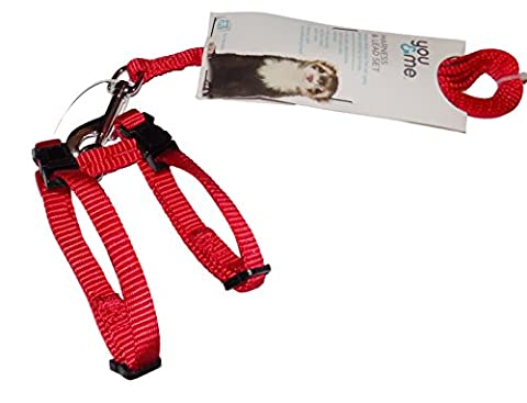Ferret Harness and Leash Set (Red) (Ferret Harnesses And Leashes)