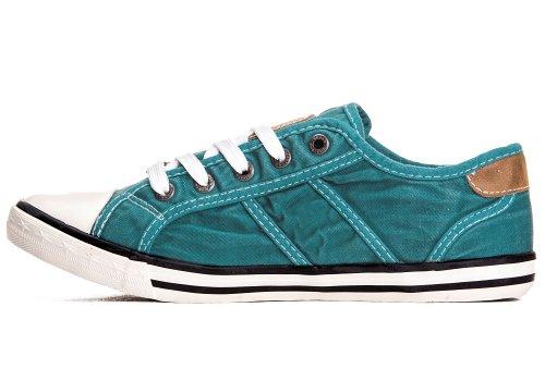 Mustang Shoes Damen Schuhe Sneaker smaragd Smaragd
