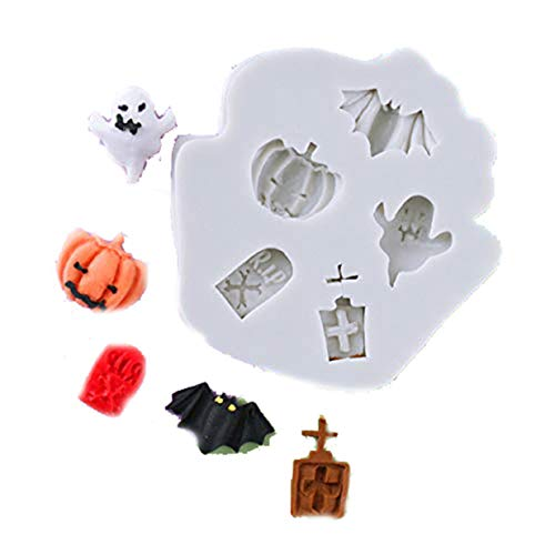 (LALANG Halloween Cake Fondant Molds Spider Pumpkin Hat Bat Letter Tombstone Baking Chocolate Tools)