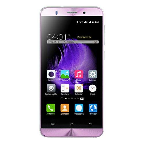 Xgody X15 5 Inch Android 5.1 Lollipop Cellphone Unlocked ROM 8GB+ RAM 1GB MTK6580 Telefonos Desbloqueados Dual Camera Support 2G/3G Network(Pink) by Xgody
