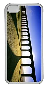 funny covers Bridge Sunset PC Transparent case for iphone 5C