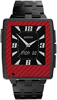product image for Slickwraps Red Carbon Fiber Wrap for Pebble Steel Watch - Retail Packaging - Red Carbon Fiber