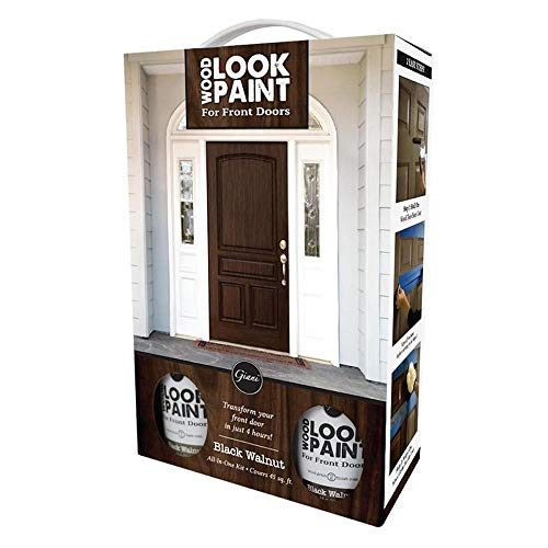 Giani Wood Look Paint Kit for for Front & Interior Doors (Black Walnut)