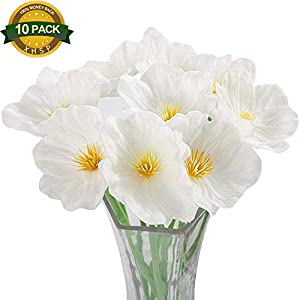 XHSP 10pcs/lot Altitude Artificial Poppy Flowers Simulation Mini Poppy Bouquet Home Wedding Party Decor Artificial Flowers 119