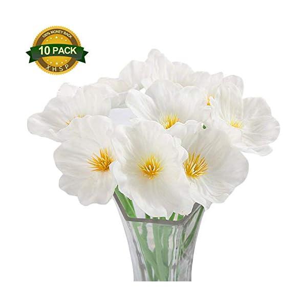 XHSP 10pcs/lot Altitude Artificial Poppy Flowers Simulation Mini Poppy Bouquet Home Wedding Party Decor Artificial Flowers